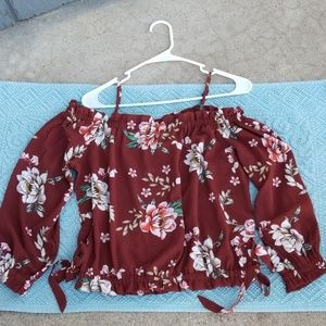 Papermoon off the shoulder top